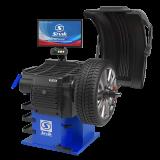Станок для балансировки колес автомототранспортных средств СБМП-60/3D Plus (УЗ, ЭМВ) (Серый) Helios