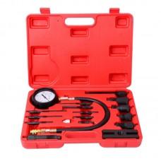 Компрессометр для дизельных ДВС с адаптерами, 0-1000PSI (0-70бар), 17 предметов ST108