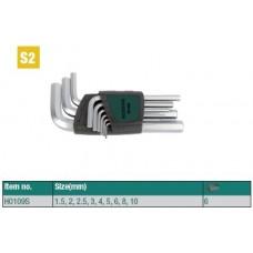 Набор ключей шестигранных ROSSVIK, 9пр, H0109S