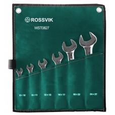 Набор ключей рожковых ROSSVIK 8-27мм, 6шт, WST0827