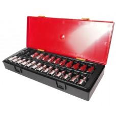 """Набор бит-головок 1/2"""" HEX H4-H14, TORX T20-T60,SPLINE M5-M12 25 предметов"""