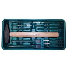 Набор инструмента ROSSVIK (молоток, зубила, выколотки), ложемент, 12 предметов LST012