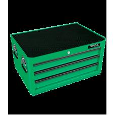 Ящик для инструментов, 3 полки с инструментом, 157 пр. (зеленый)
