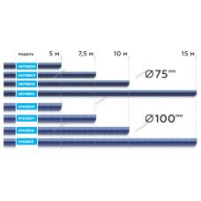 Шланг газоотводный D=76мм, длина 15м (синий) NORDBERG H076B15
