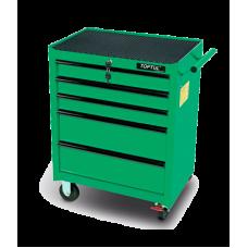 Тележка инструментальная 5 полок (зеленый)