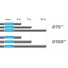 ШЛАНГ газоотводный Ø75мм, длина 7м, до +250°С (серый) NORDBERG HF076G07