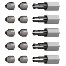 Комплект фиксаторов (5шт.) с резьбой M10x1,25 mm для адаптера UniLug