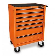 Тележка инструментальная 7 полок (оранжевый) TOPTUL TCBJ0705